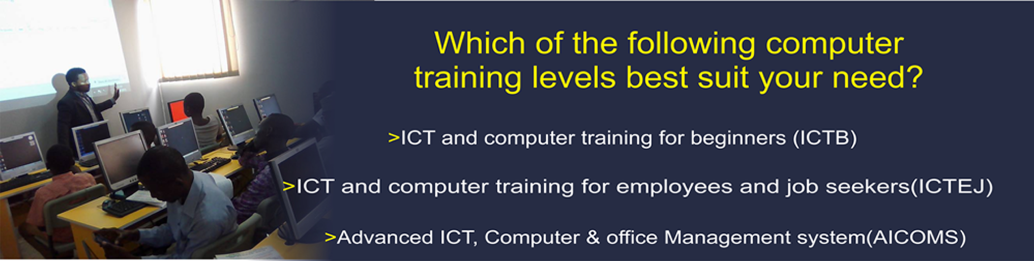 computer training WITH MICROSOFT PACKA