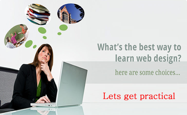 DIFFERENT WAYS TO LEARN WEB DESIGN