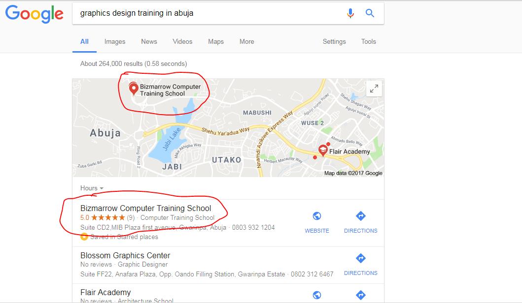 Google my business-Digital marketing Training in Abuja