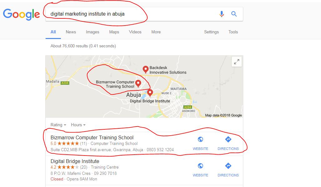 digital marketing-Google mybusiness