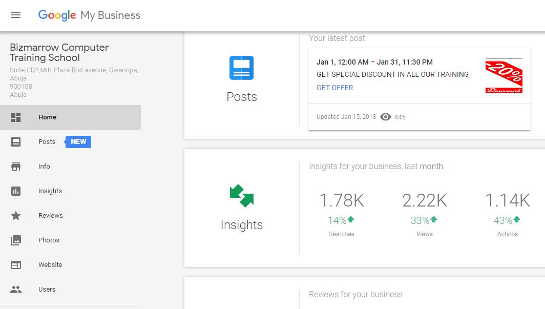 google my business -Digital marketing training