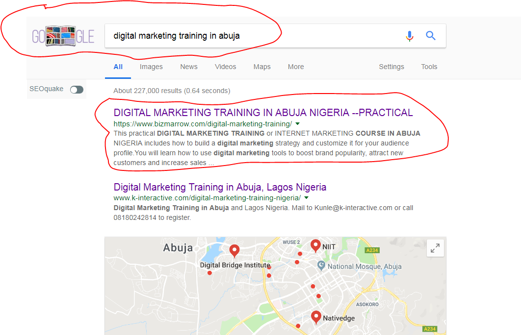 digital marketing training abuja NIGERIA