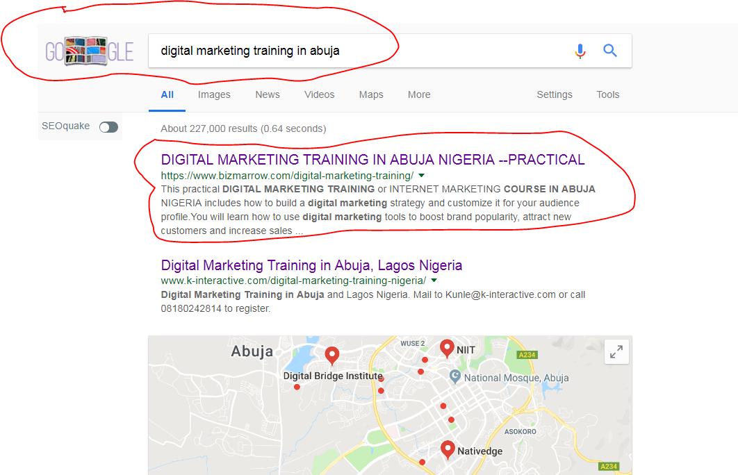 digital marketing training abuja NIGERIA