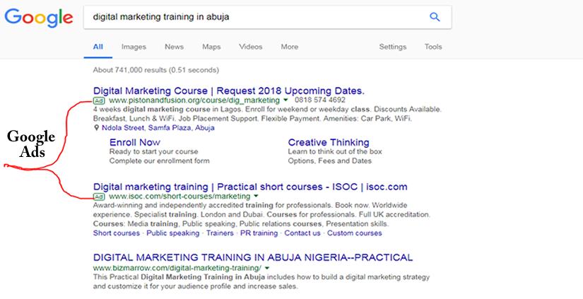 Google Ads--digital marketing training in Abuja Nigeria