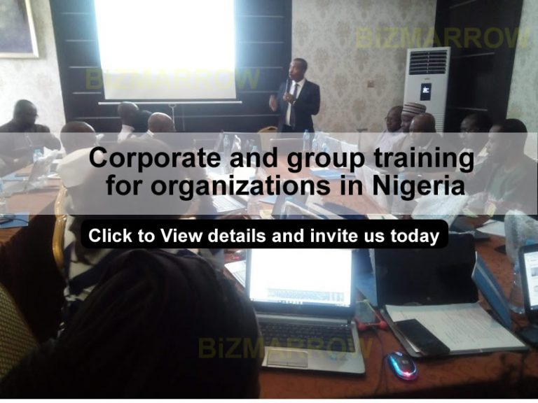 Corporate and group training in nigeria BIZMARROW front