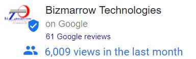 Bizmarrow Technologies Google review from client Abuja Nigeria