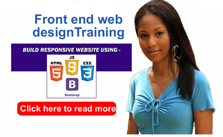 HTML, CSS, Bootstrap and JavaScript : front end web design training in Abuja
