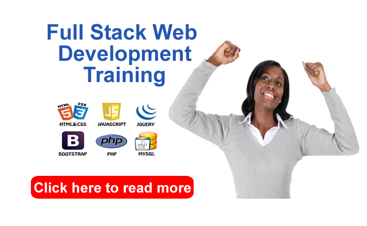 full stack website development training in Abuja Nigeria practical training