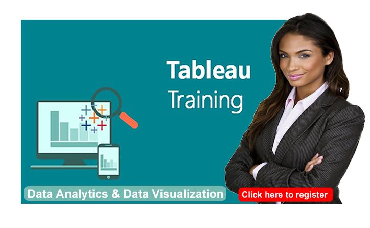 tableau training- data analytics and data visualization training