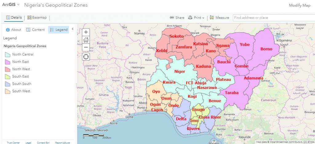 Arc-gis-Nigerian-Geopolitical-zones