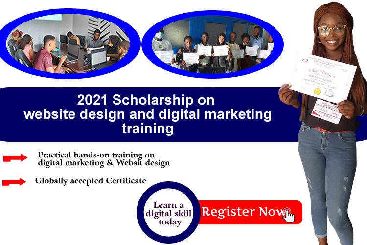 2021 scholarship on Digital Skills for Nigeria Youths